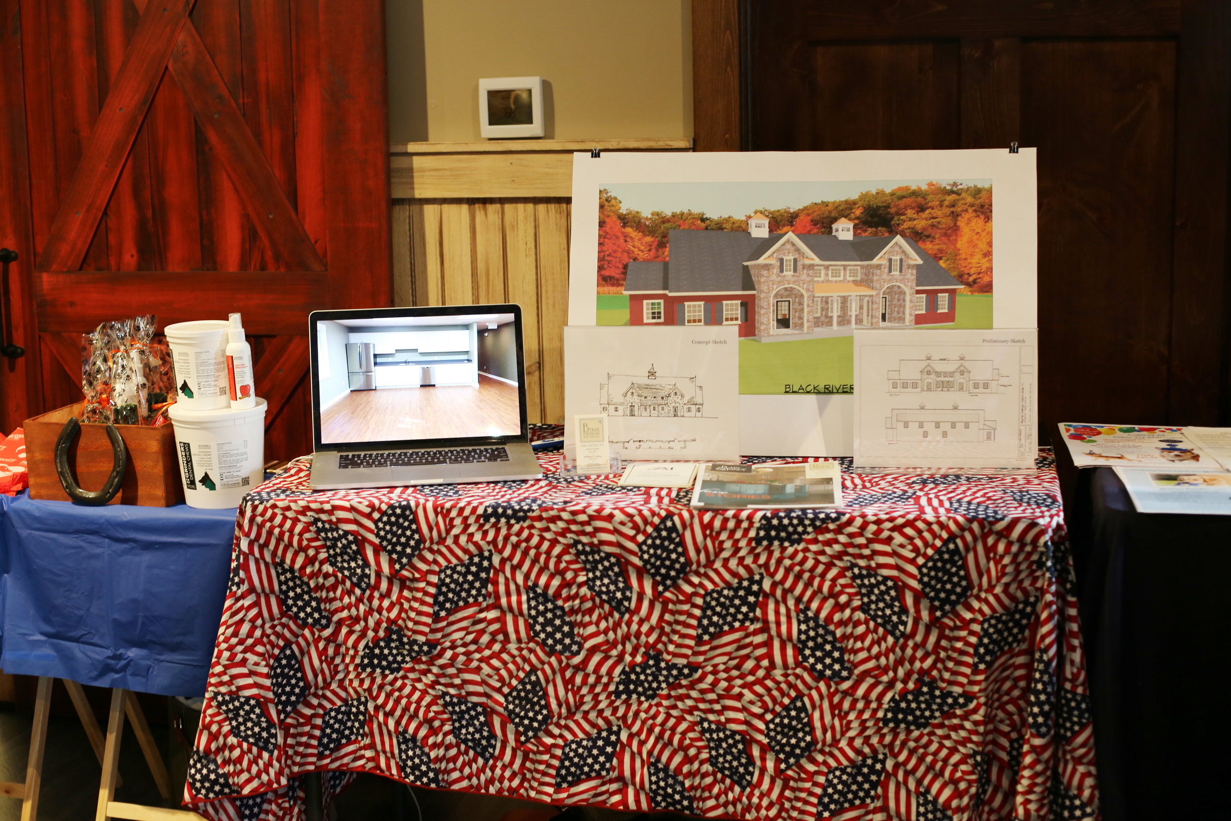 Byrne Design Associates' display table at the BRVH Open House