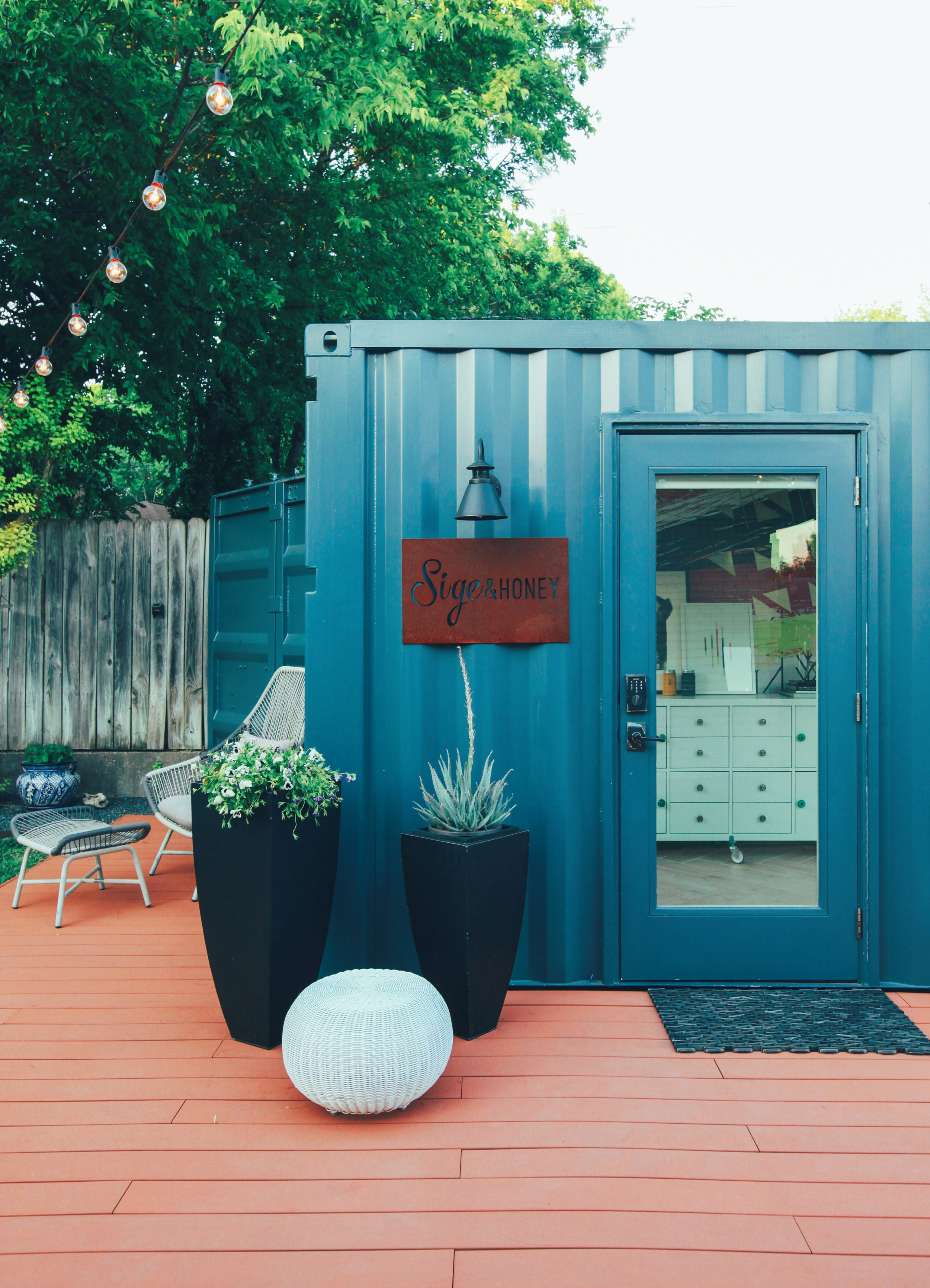 Shipping container studio featured in Austin Monthly