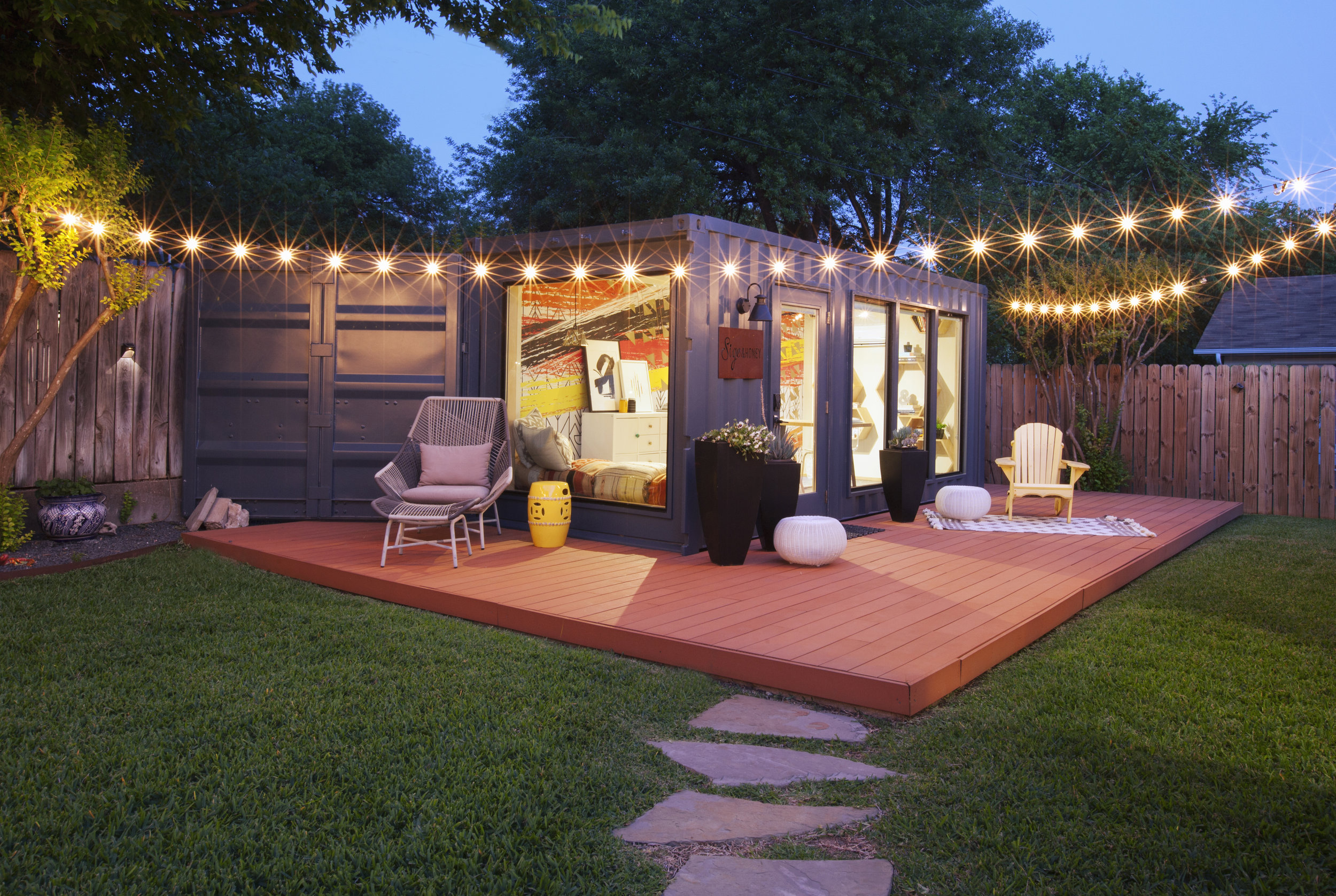 "Patrice was featured on HGTV ""Container Homes"" for this shipping container studio. She later started a company called Sige&Honey which focuses on repurposing shipping containers to living spaces."