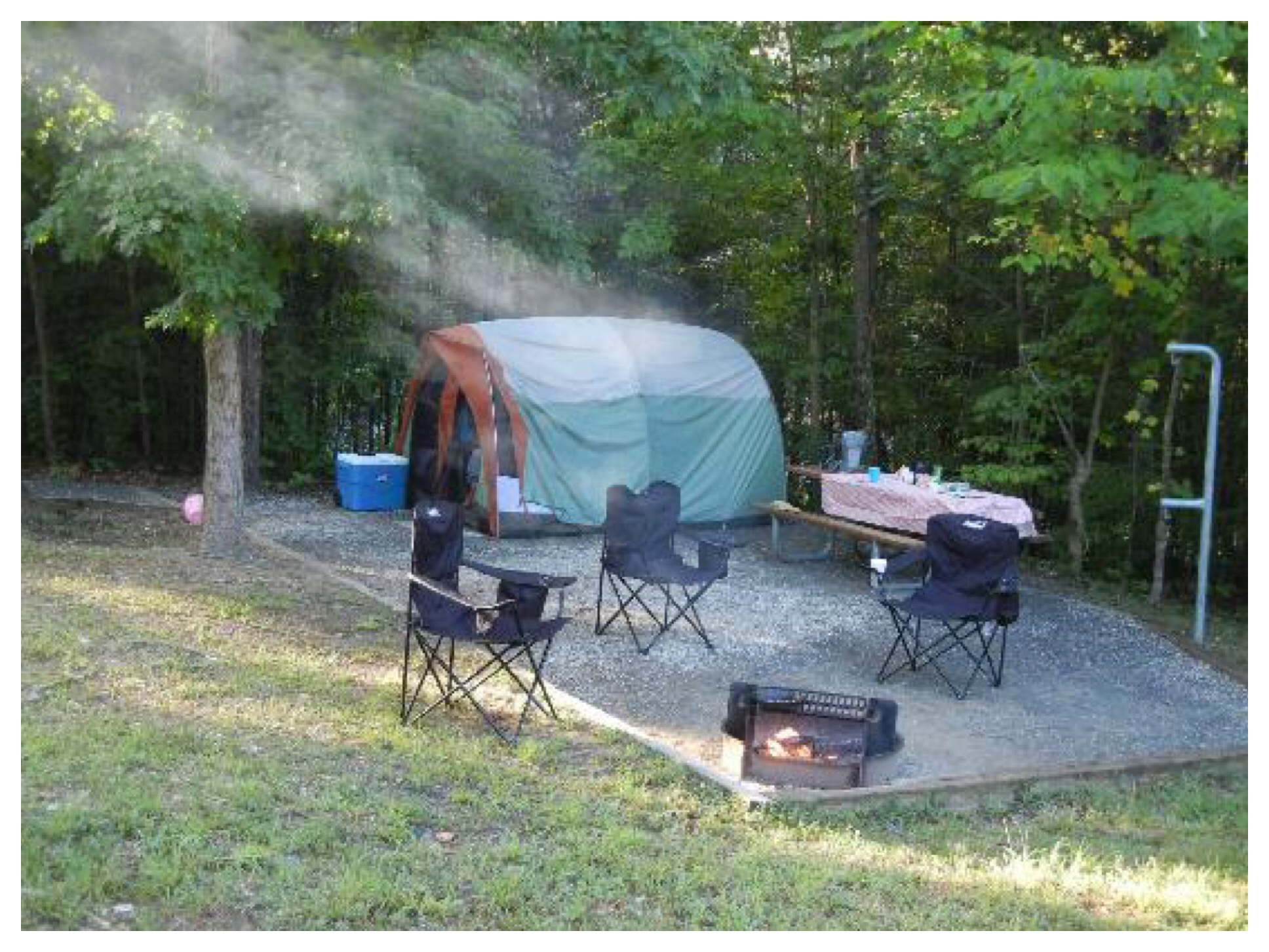 Holliday Lake State Park - Campsite Living