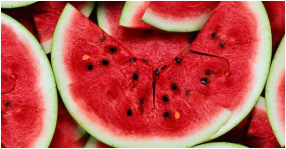 Sources:pieces of watermelon from  hairshots
