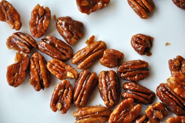 Caramelised pecan nuts (Source: arlingtonhousewives )