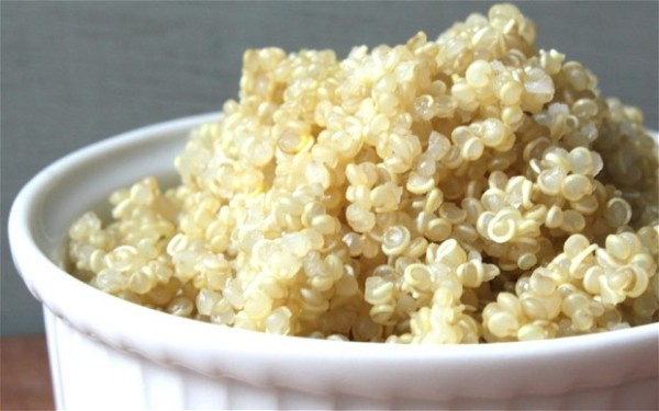 Cooked quinoa in white bowl (Source:  telegraph )