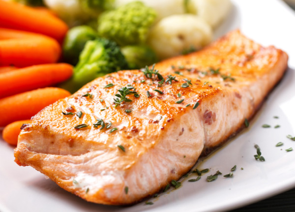 Cooked salmon (Source: mamabee )
