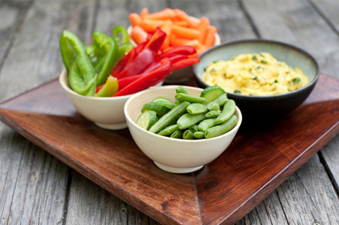Vegetables and hummus (Source:  jessicasepel )