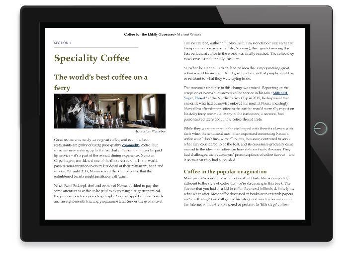 Sample Coffee Chapter iPad