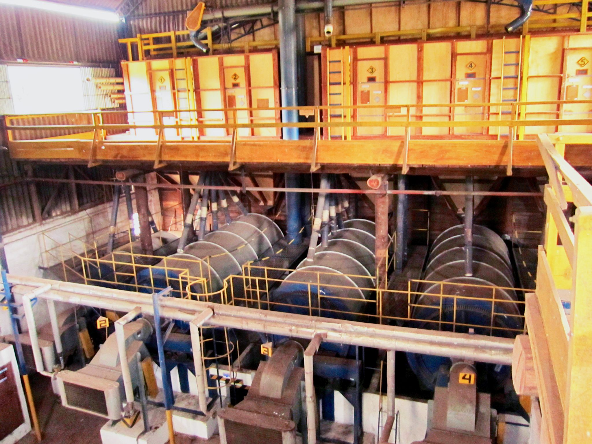 Big industrial driers at Ponto Alegre, Brazil.