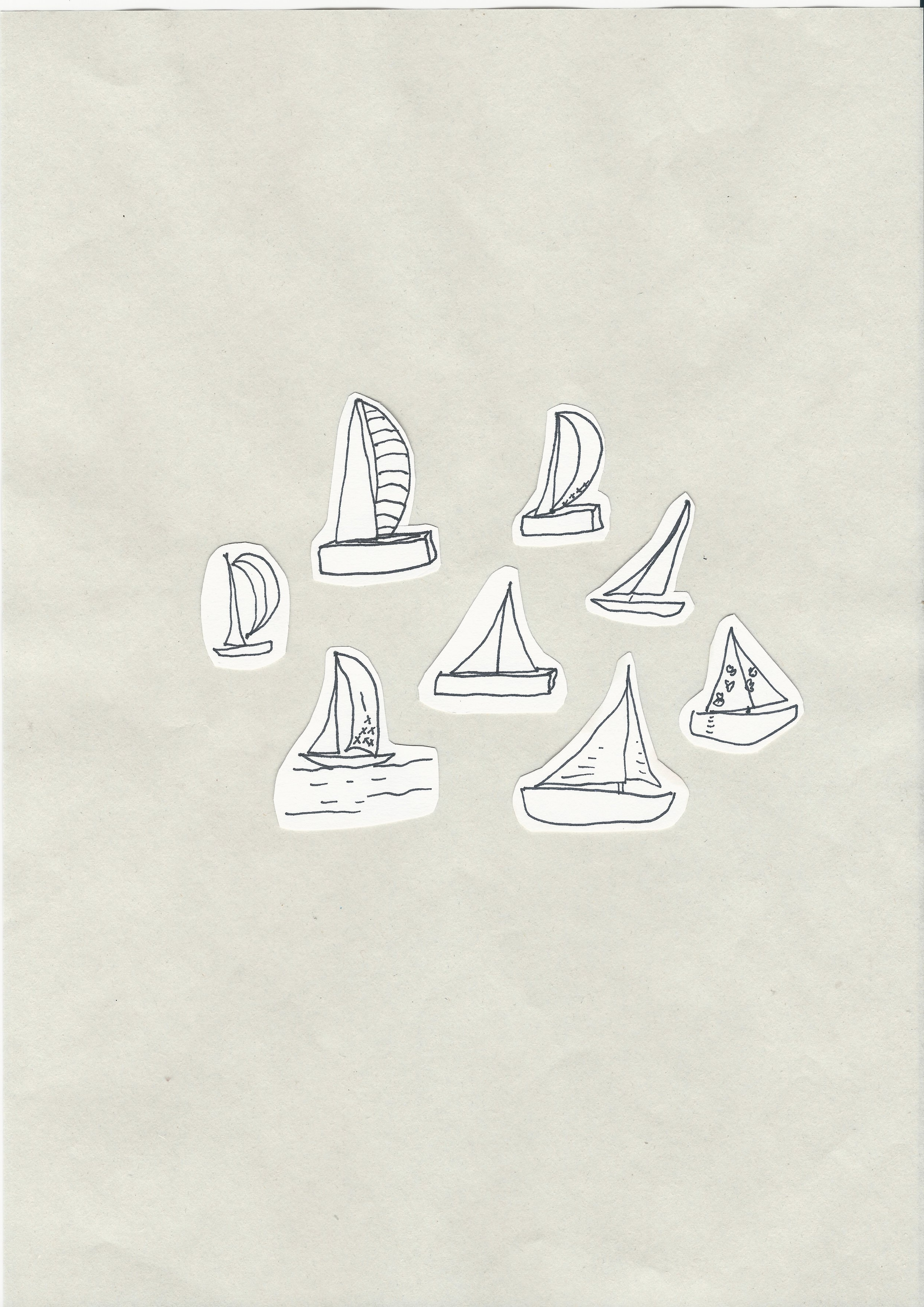 I grouped all of my sailboats together