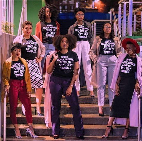 #Repost @blackbeautiful_brunch ・・・ When Black women show up, sh*t gets handled 📸 @tkophotographic Tees created by @yas_kalese  #blackwomen #culturalmuse #aspiretoinspire #blackgirlmagic✨