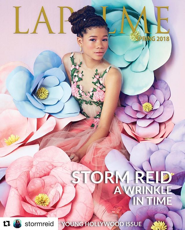 #Repost @stormreid 🌸😭 This day couldn't get any more magical. Thank you @lapalmemagazine for this amazing cover shoot and letting me embrace my inner flower child. 🌸😭 Hair: @shawnna818  Makeup: @mylahmorales 💕 . . . #culturalmuse #youngmuse #aspiretoinspire #stormreid #awrinkleintime