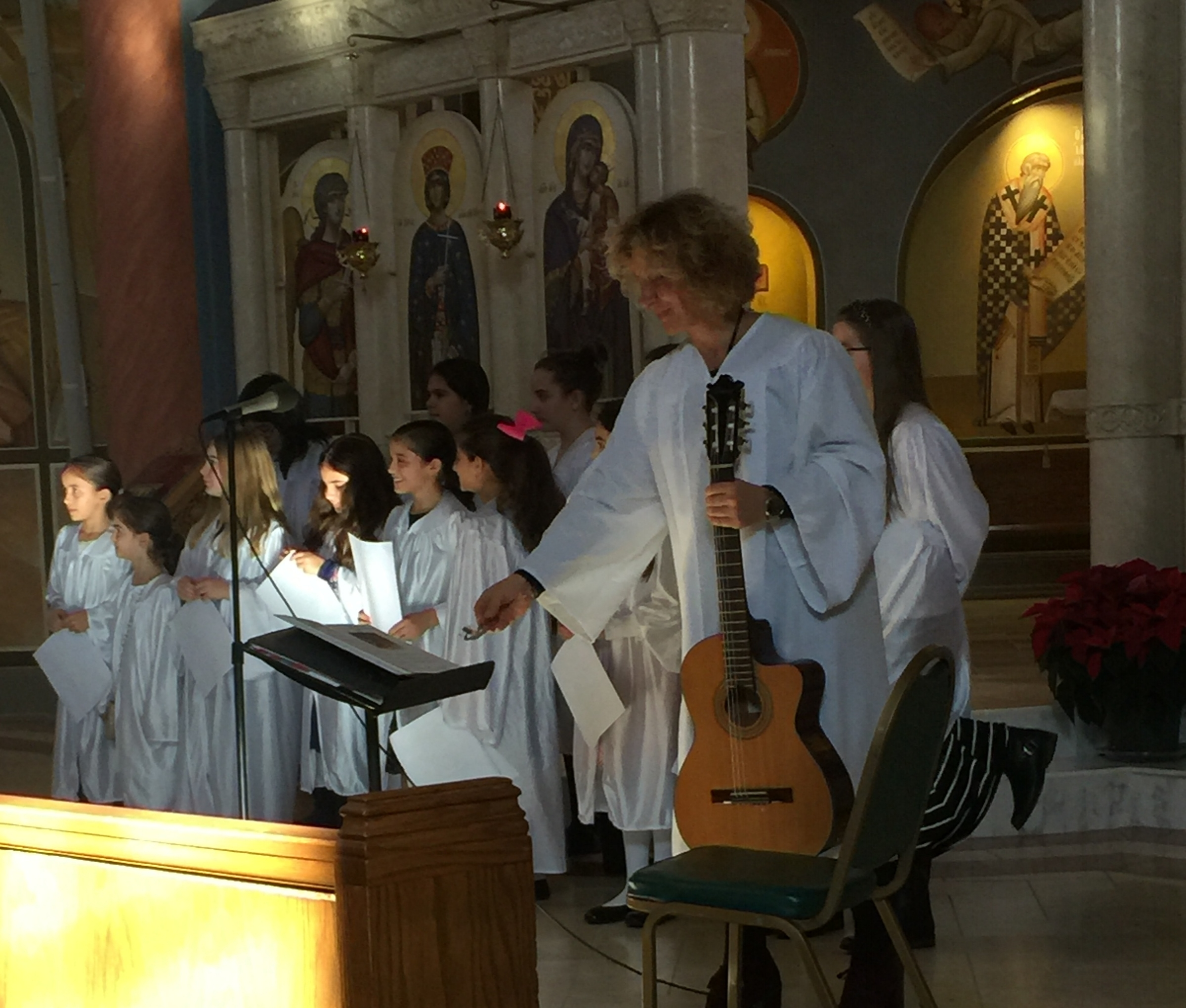 Choir - Saint Catherine's Youth Choir encourages children to chant hymns and become active participants during the Divine Liturgy and other church services. The Children's Choir chants responses and hymns of the Divine Liturgy every other week. The choir also leads the faithful in the singing of the carols during the Annual Christmas Pageant providing inspiration for all who attend.