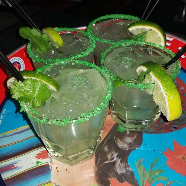 We are ready for St. Patrick's Day!  Join us for green margaritas all day long!