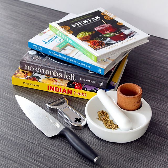 We've teamed up with @hmhcooks for a spring giveaway! Get inspired to cook more with four NEW cookbooks from Houghton Mifflin Harcourt, plus a set of Kuhn Rikon kitchen tools. Two lucky winners will receive:⠀ ⠀ - INDIAN-ISH by Priya Krishna⠀ - THE DOMESTIC GEEK'S MEALS MADE EASY by Sara Lynn Cauchon⠀ - FIESTAS AT CASA MARCELA by Marcela Valladolid⠀ - NO CRUMBS LEFT by Teri Turner⠀ (1) COLORI® Titanium Chef's Knife⠀ (1) Mortar & Pestle⠀ (1) Swiss Metal Peeler⠀ ⠀ Here's how to enter:⠀ - Follow @hmhcooks⠀ - Tag a friend in the comments⠀ - Like this post⠀ - You must be 18 years or older and based in the U.S. to enter⠀ ⠀ Giveaway will close Tuesday, March 28 at 11:59 PM.