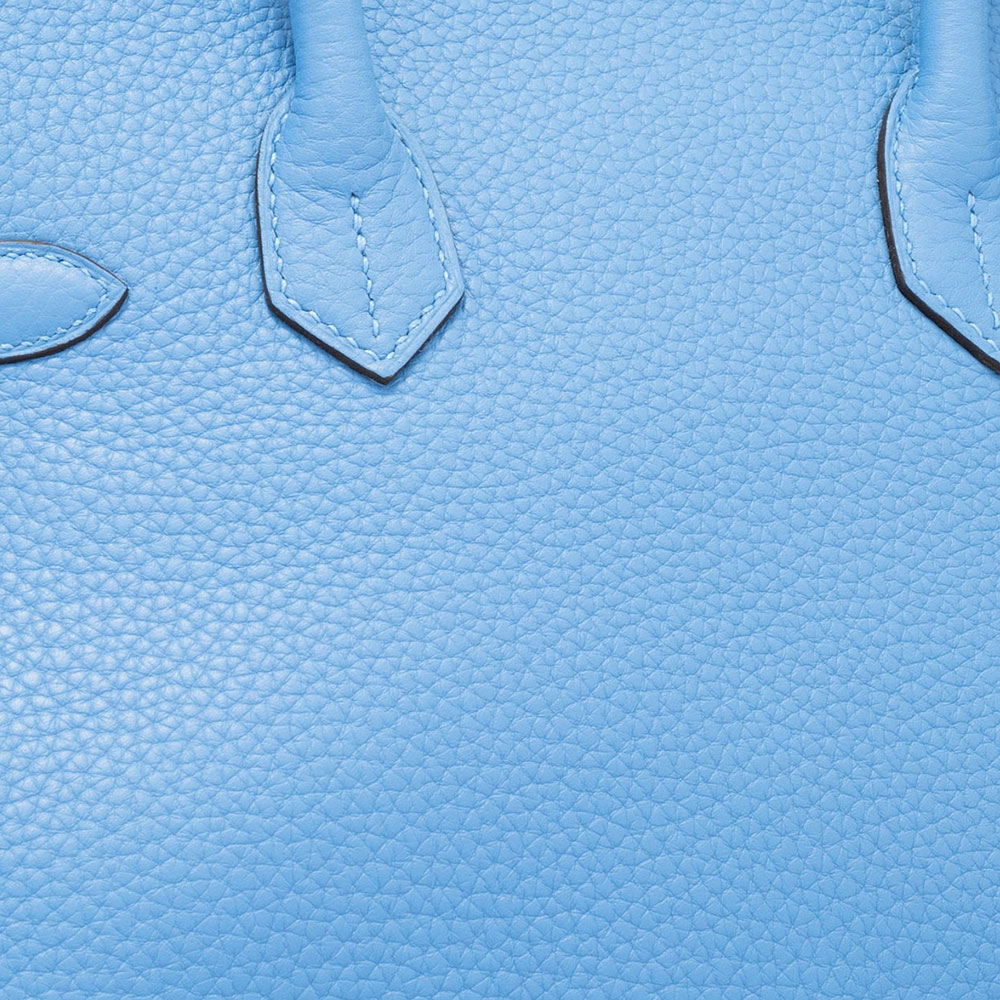 Hermes baby blue Clemence leather