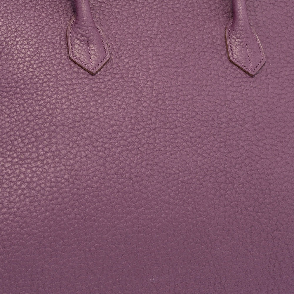 Hermes mauve Fjord leather
