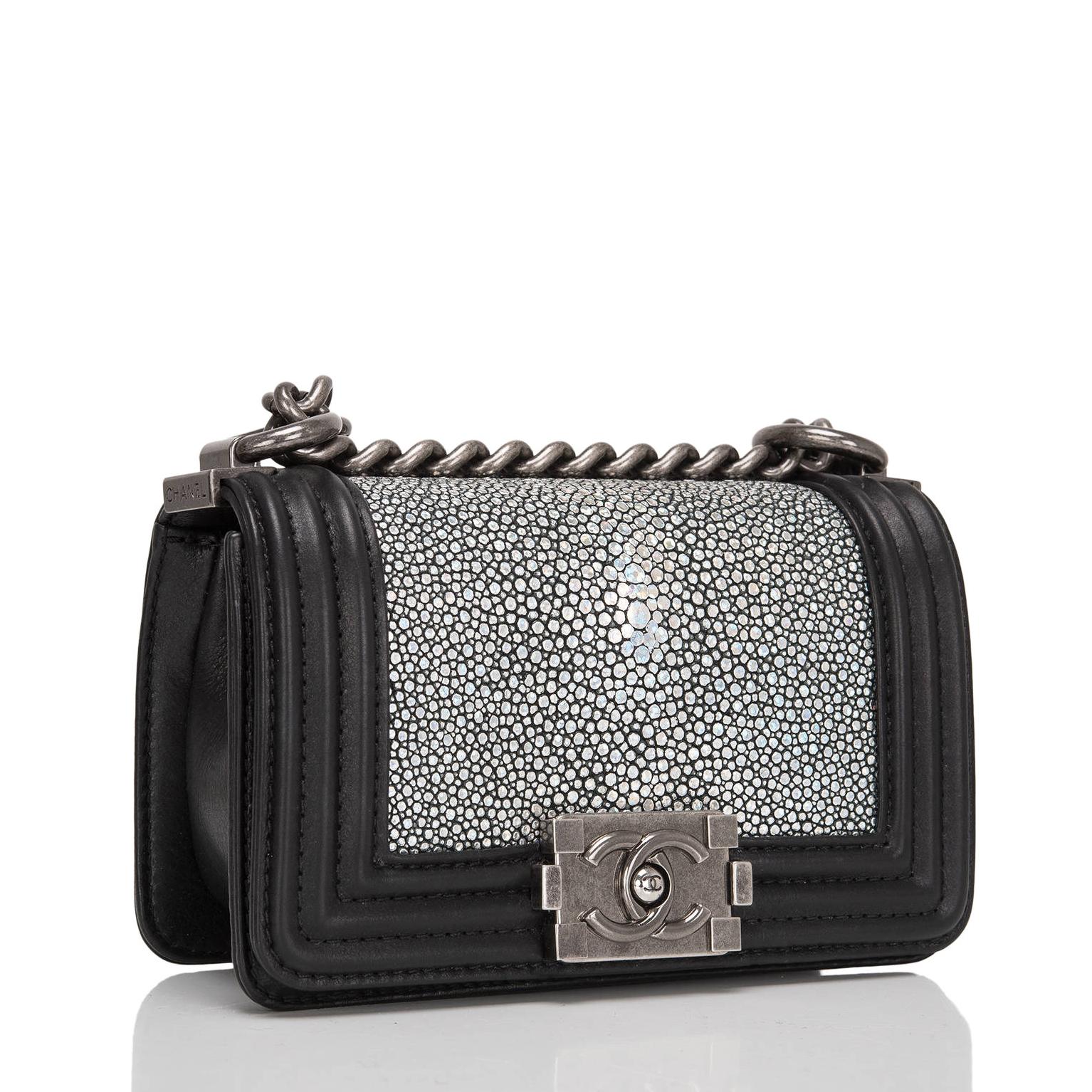 chanel boy stingray skin handbag