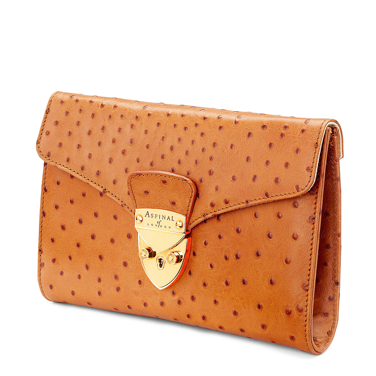 aspinal ostrich skin wallet