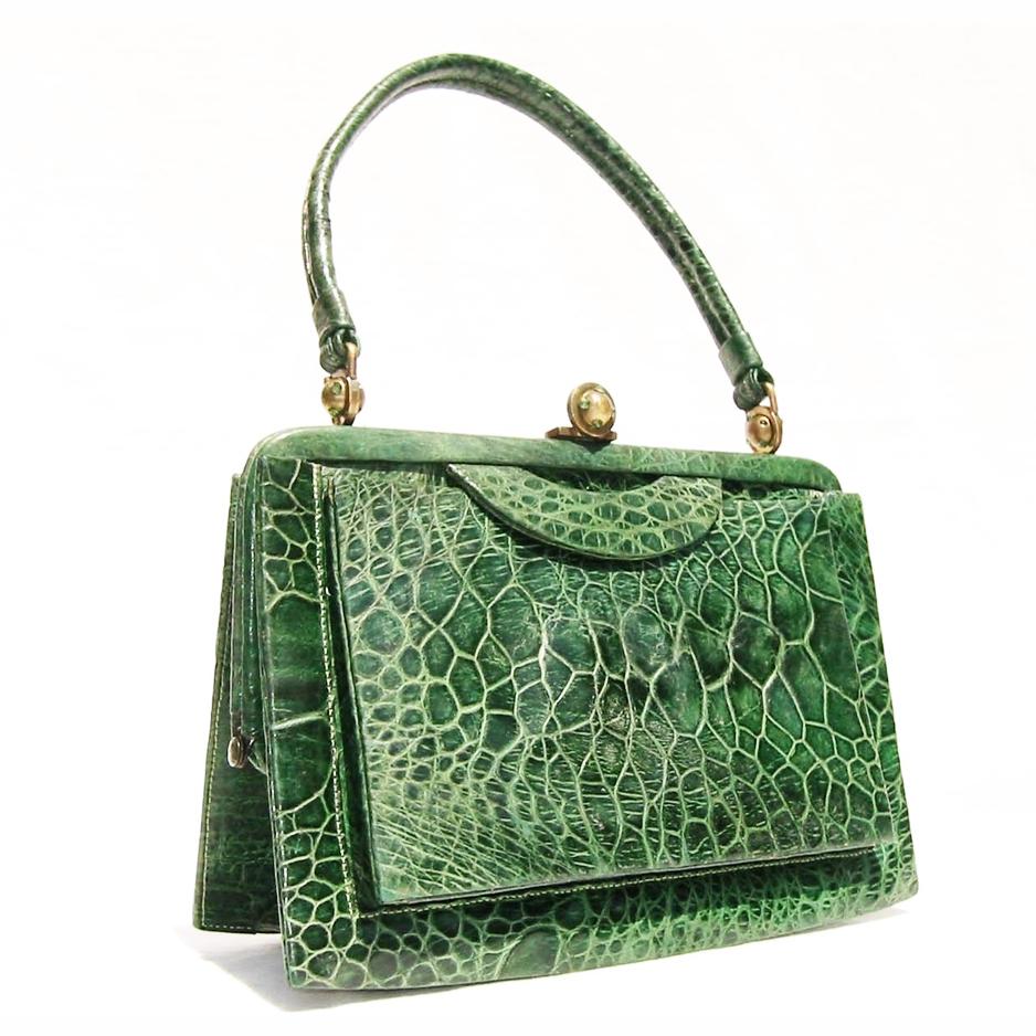 vintage turtle skin handbag