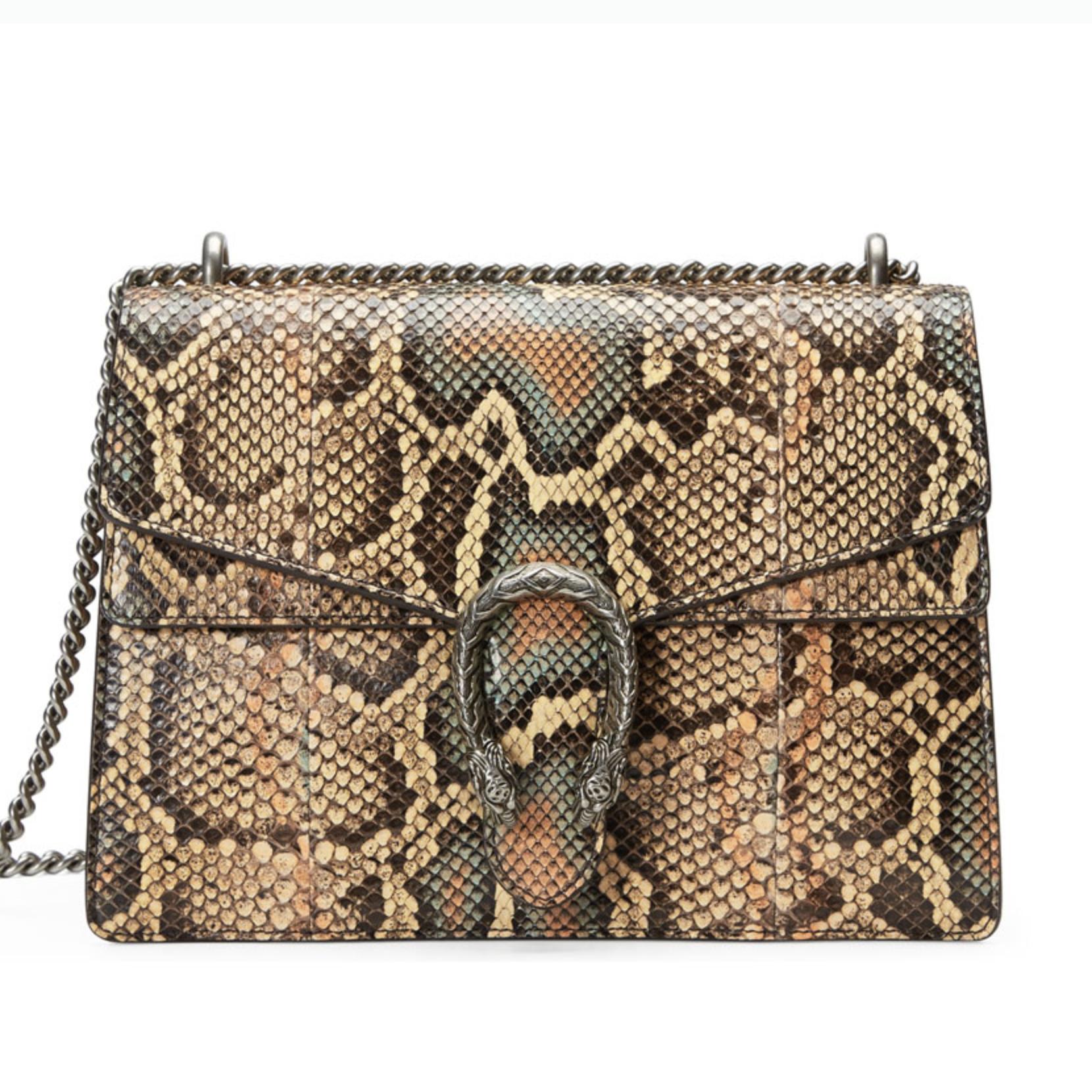 gucci dionysus python skin handbag