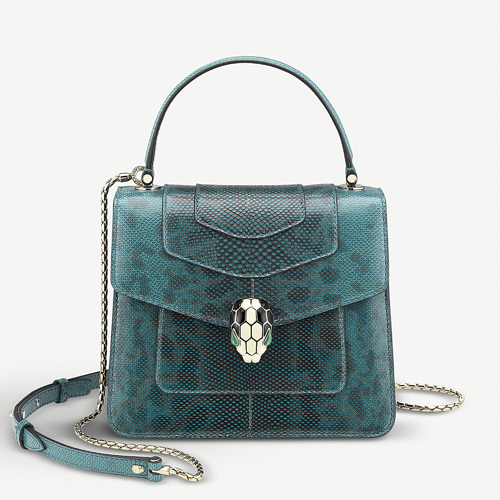 bulgari serpenti lizard skin handbag