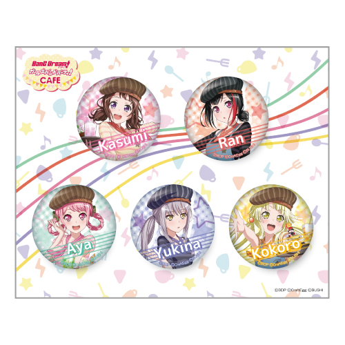 BanG Dream Girls Band Party Roselia Button Badge Collaboration Cafe Limited