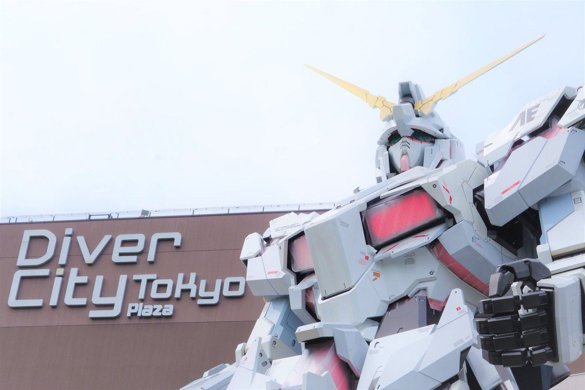 Gundam Statue located at DiverCity Tokyo Plaza