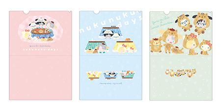クリアファイルセット nukunuku・days ver&イノシシver. 価格:1,200円(税抜)