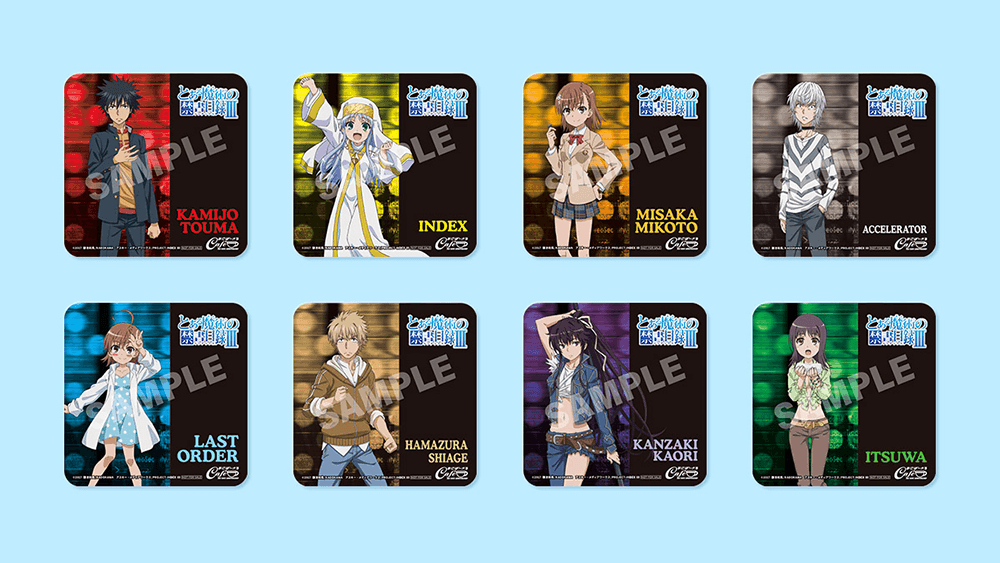 A Certain Magical Index III  (とある魔術の禁書目録Ⅲ) Novelty Coasters