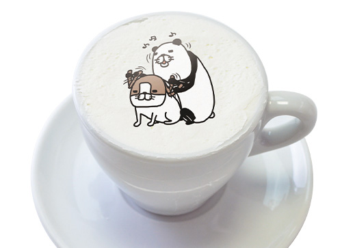 12. カフェラテの色がなんだか犬っぽいぬかわいい