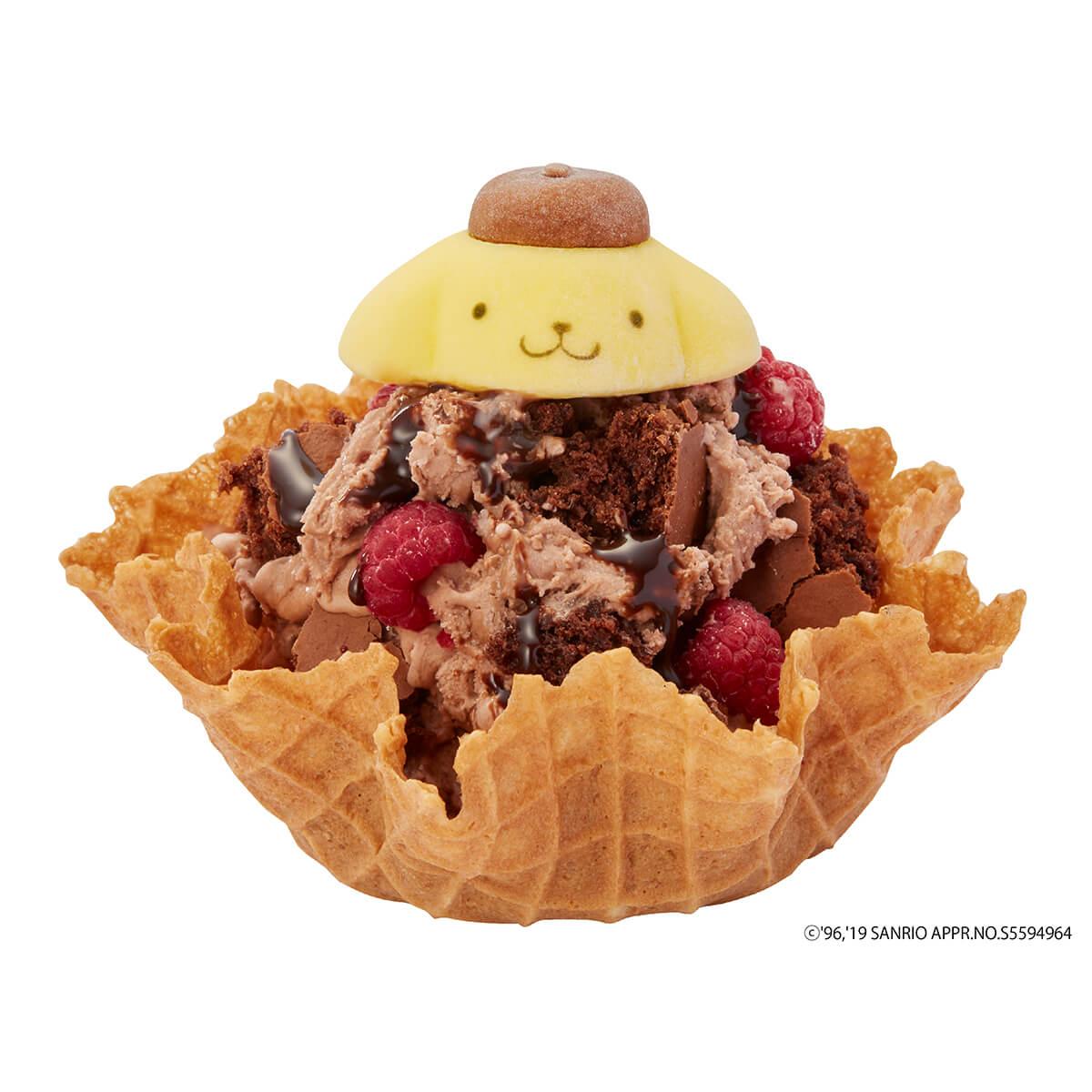 2. ポムポムプリンのチョコレートヤミーベリー帽