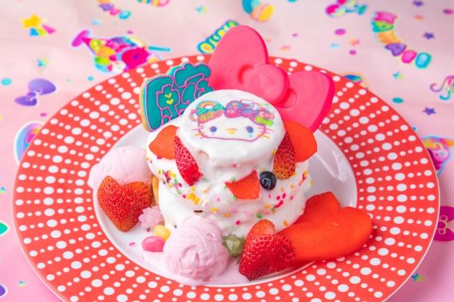 4. 原宿×KAWAII×キティのウキウキパンケーキ ~リンゴのためいき~ 1,580円