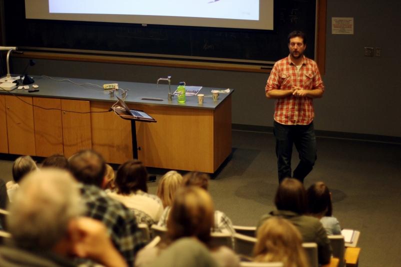 Morten Hilmer lecture. Photo courtesy of the Augustana Photo Bureau