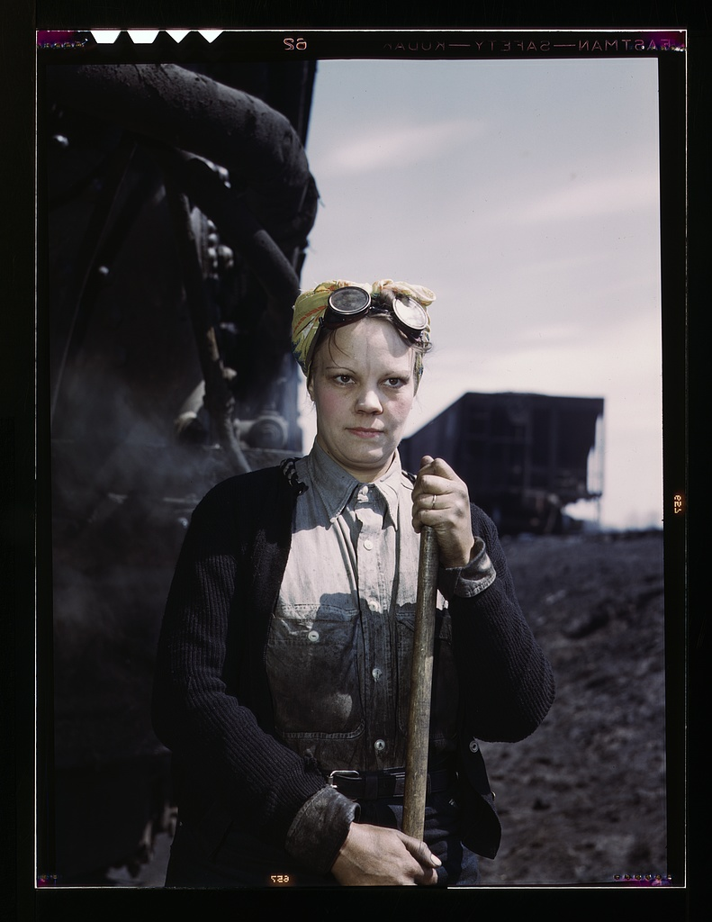 Chicago & North Western R.R., Irene Bracker, employed at the roundhouse as a wiper.    Source