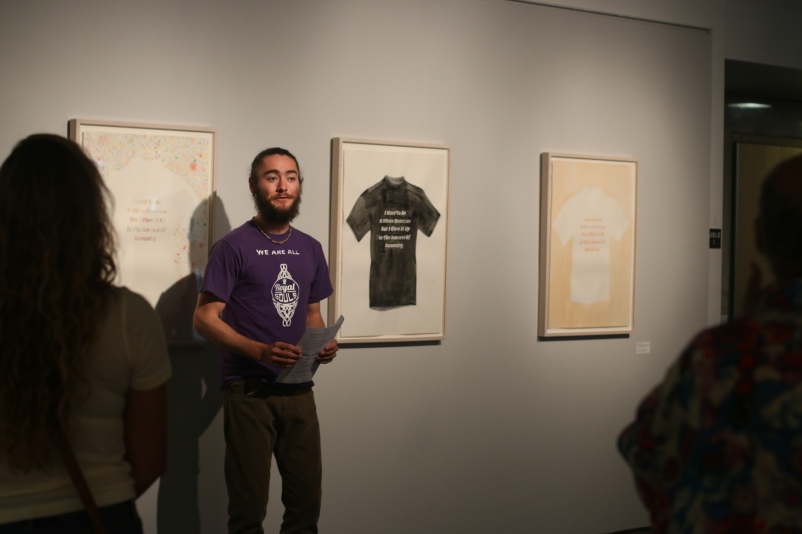 OYO poetry response project reading at the ATMA (photo credit: Augustana Photo Bureau)