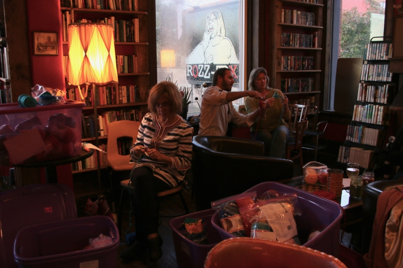 October Crochet-In at Rozz-Tox (photo courtesy of Augustana Photo Bureau)