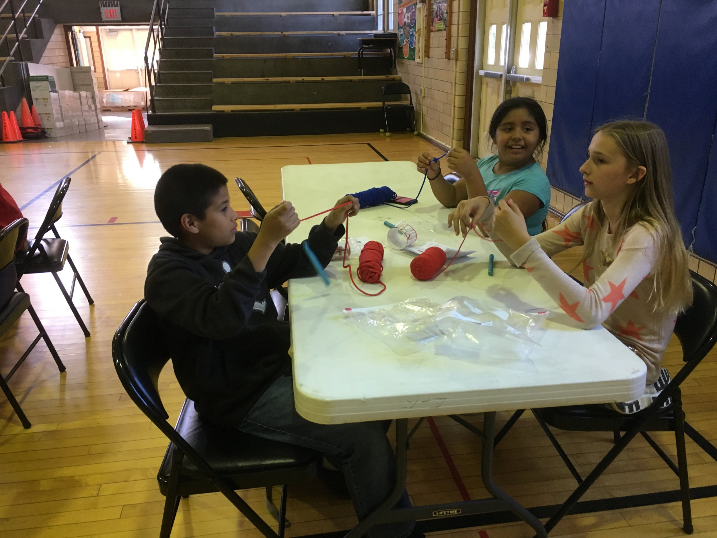 September Crochet-In at Longfellow Liberal Arts Elementary School (photo courtesy of Danielle Beliveau-Derion)