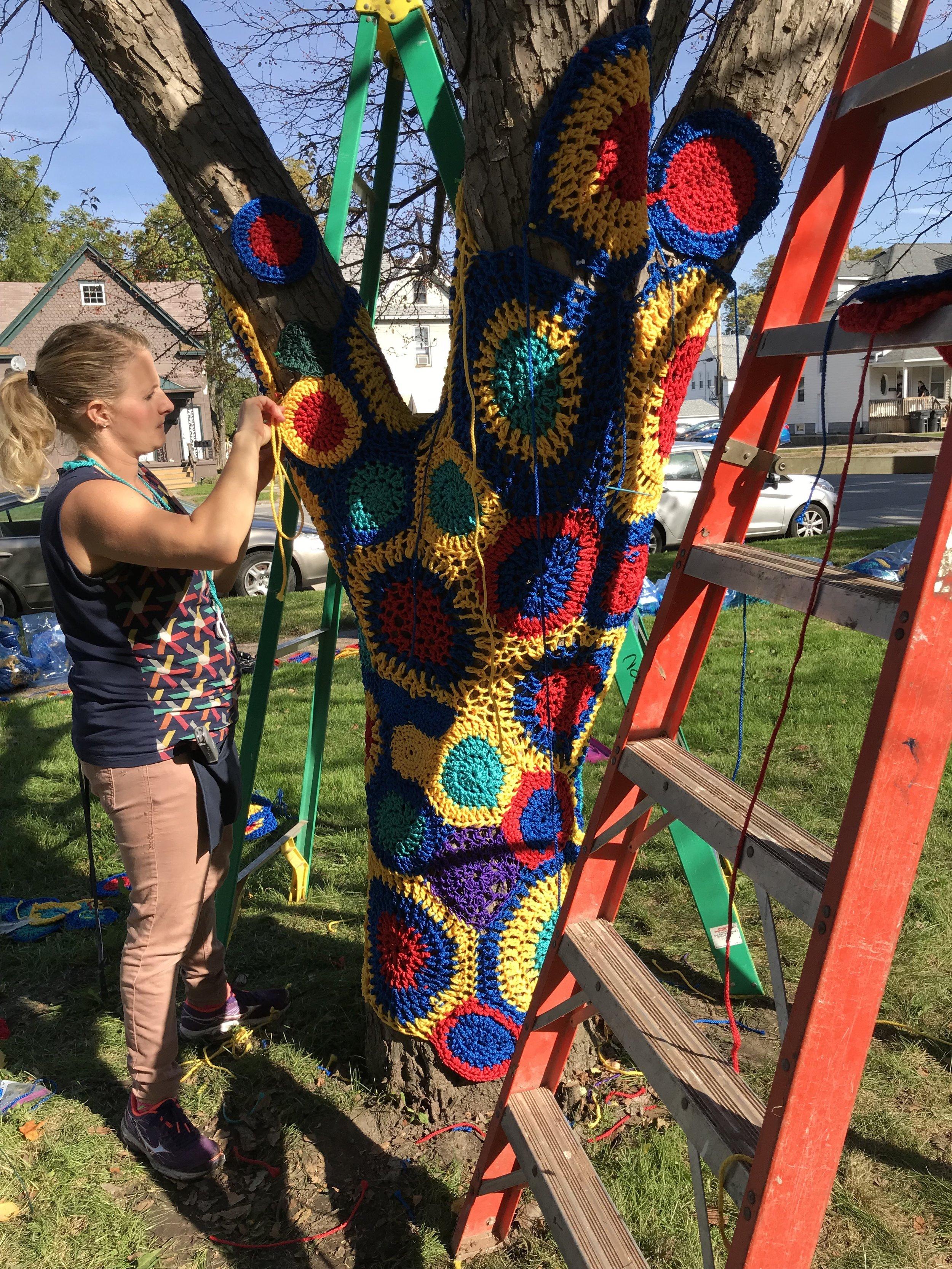 Installation at Longfellow Elementary School (photo courtesy of Carol Hummel)