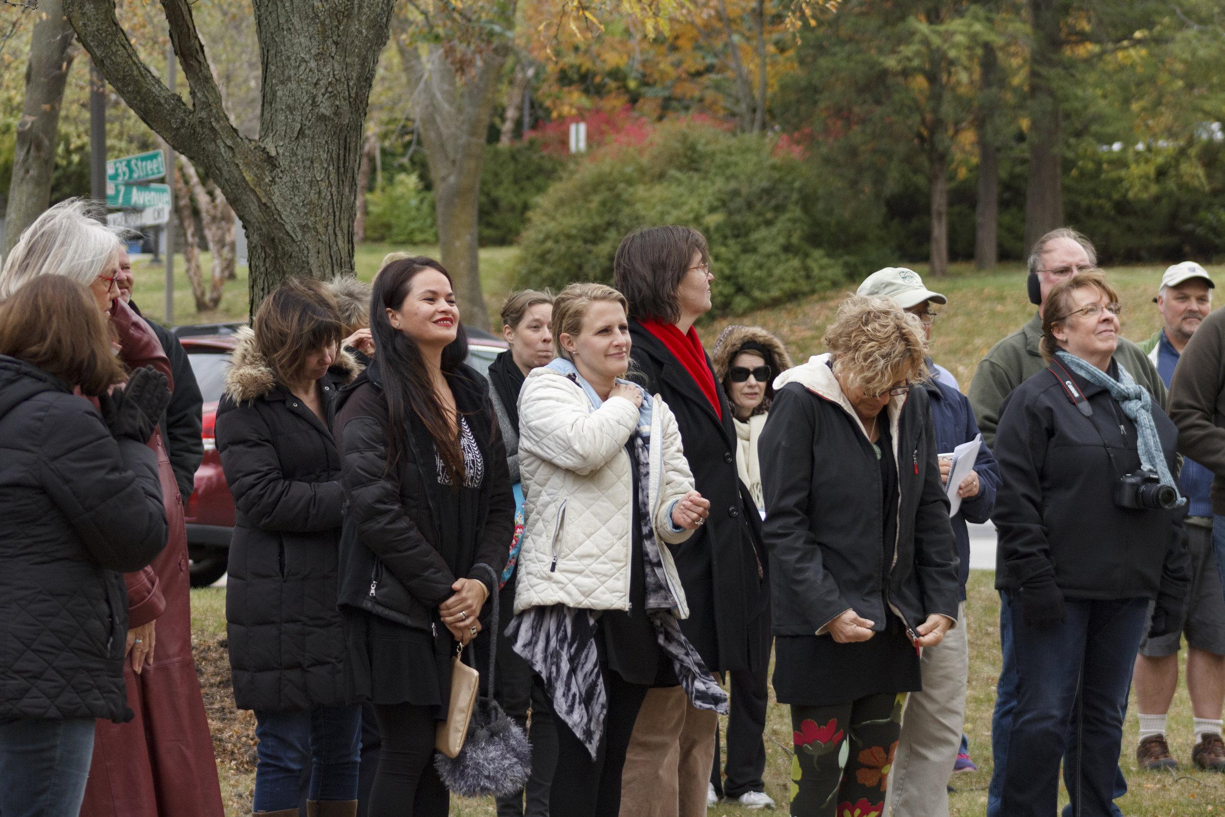 Unveiling reception (photo courtesy of LuAnna Gerdemann)
