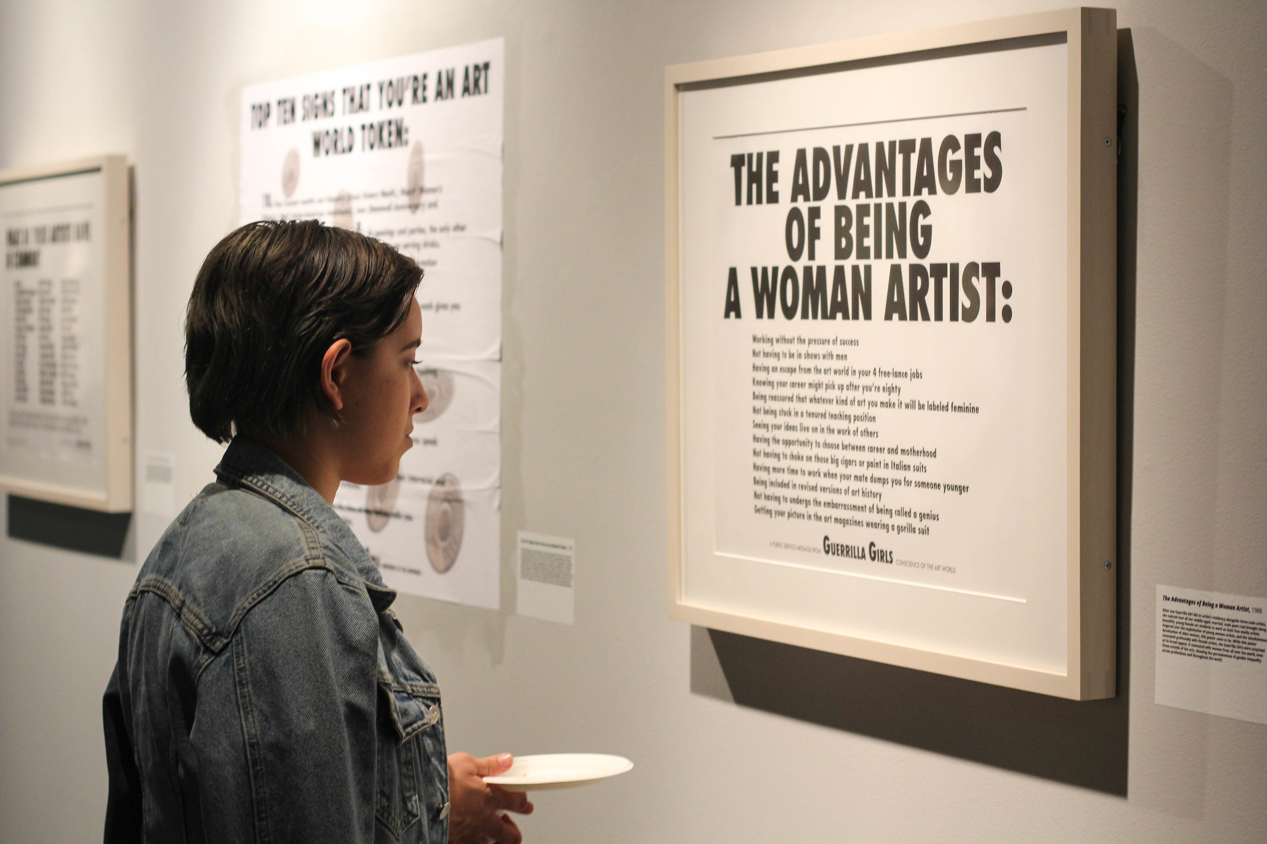 A Woman's Place is in the Gallery: Guerrilla Girls, 1985-2015. Augustana Teaching Museum of Art, 2016.