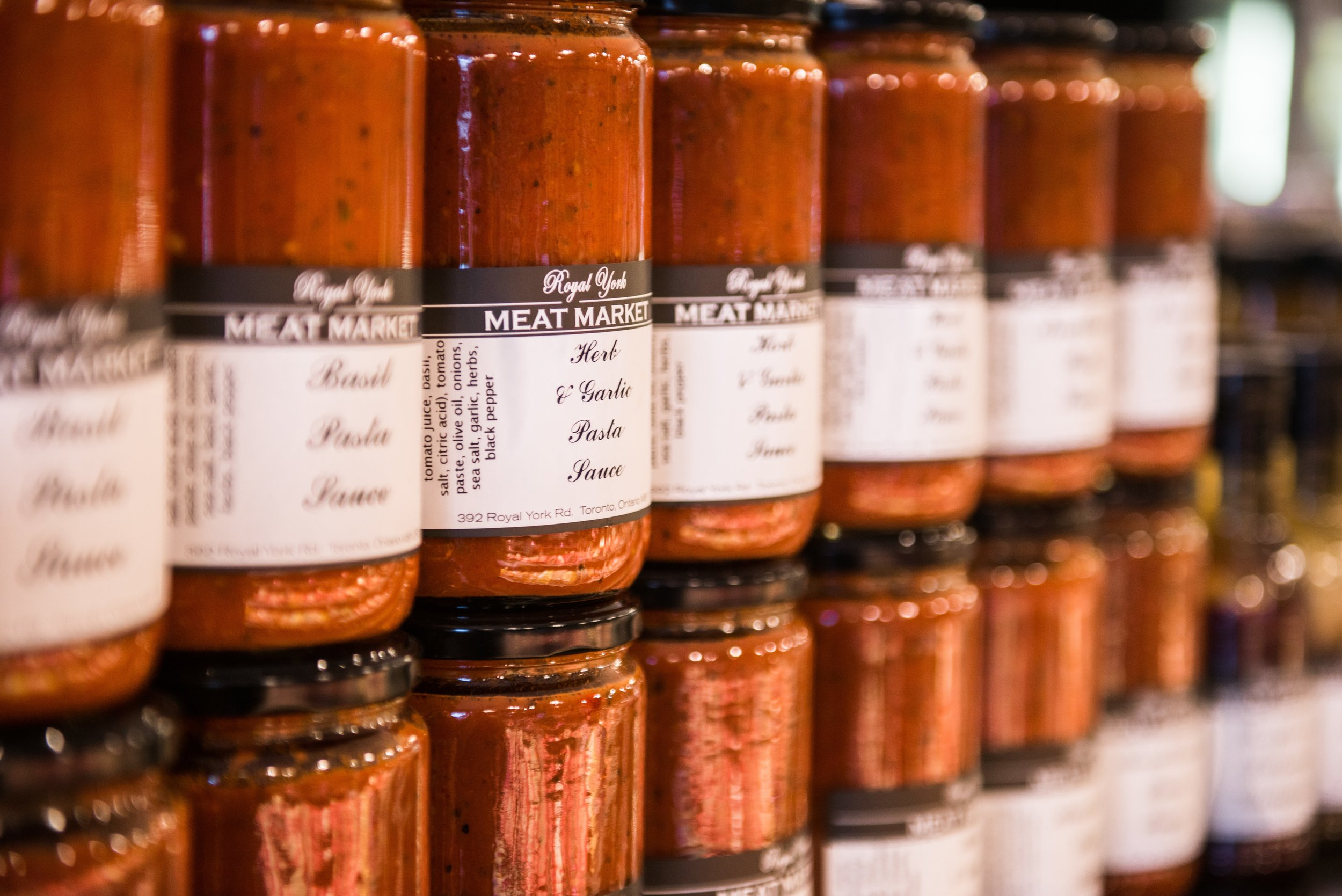 What's spaghetti without some tomato sauce? Whatever you're covering, we got you covered. Come feast your eyes on our wide selection of in house made sauces.