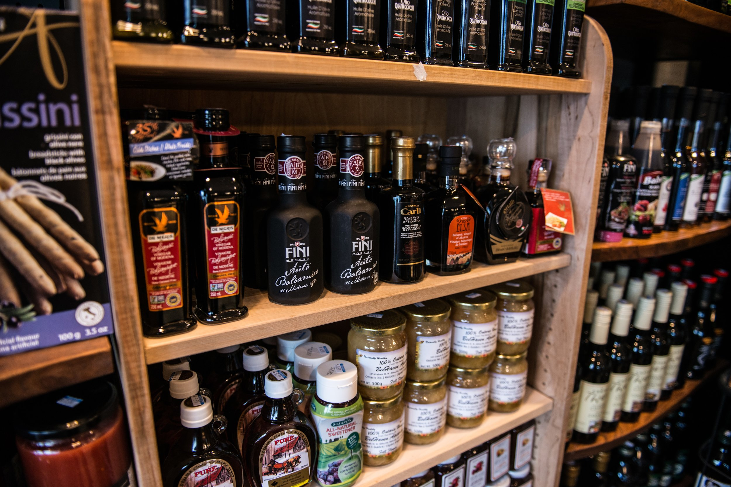 Is the only oil you know olive? Well let us introduce you to a whole world of flavor. With a large selection of oils, your taste buds will thank you for leaving the no name on the shelf.