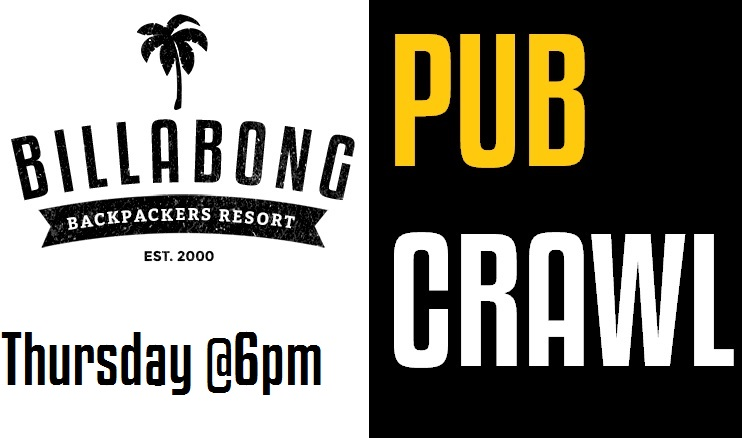 Party with the Billabong and Peterpans Crew every Thursday! Meet at the Billabong reception.
