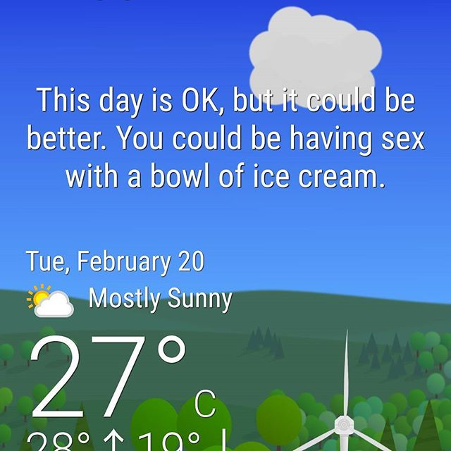 I scream you scream we all scream for ice cream #wtfforecast #app #sunnydays #funinthesun