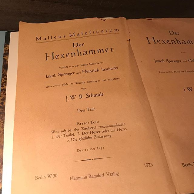 Malleus Maleficarum: The Hammer of Witches