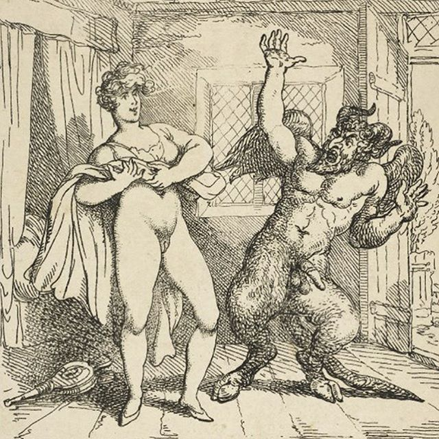 "Vulvas are so powerful they scare away the devil himself. ""A thing all shagg'd about with hair / So much it made old Satan stare / Who frightened at the grim display / Takes to his heels and runs away""  #bodies #pubichair #vulva #feminism #devil #power #art"