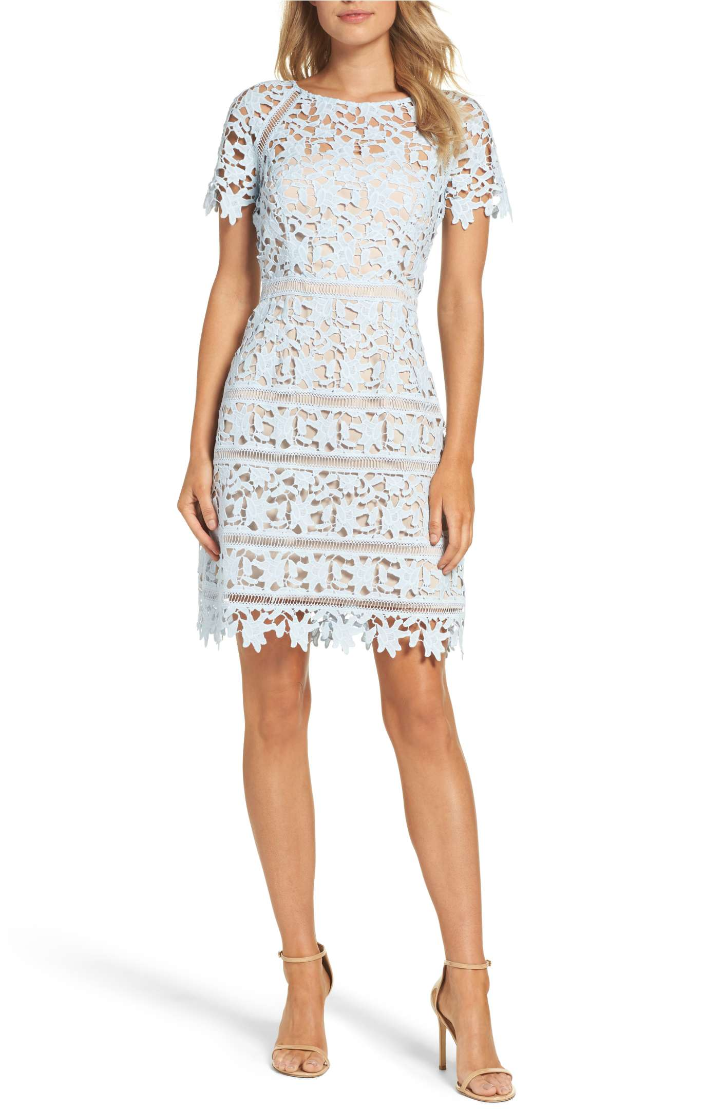 Crochet Dress  by Eliza J $178, Sizes 2-16
