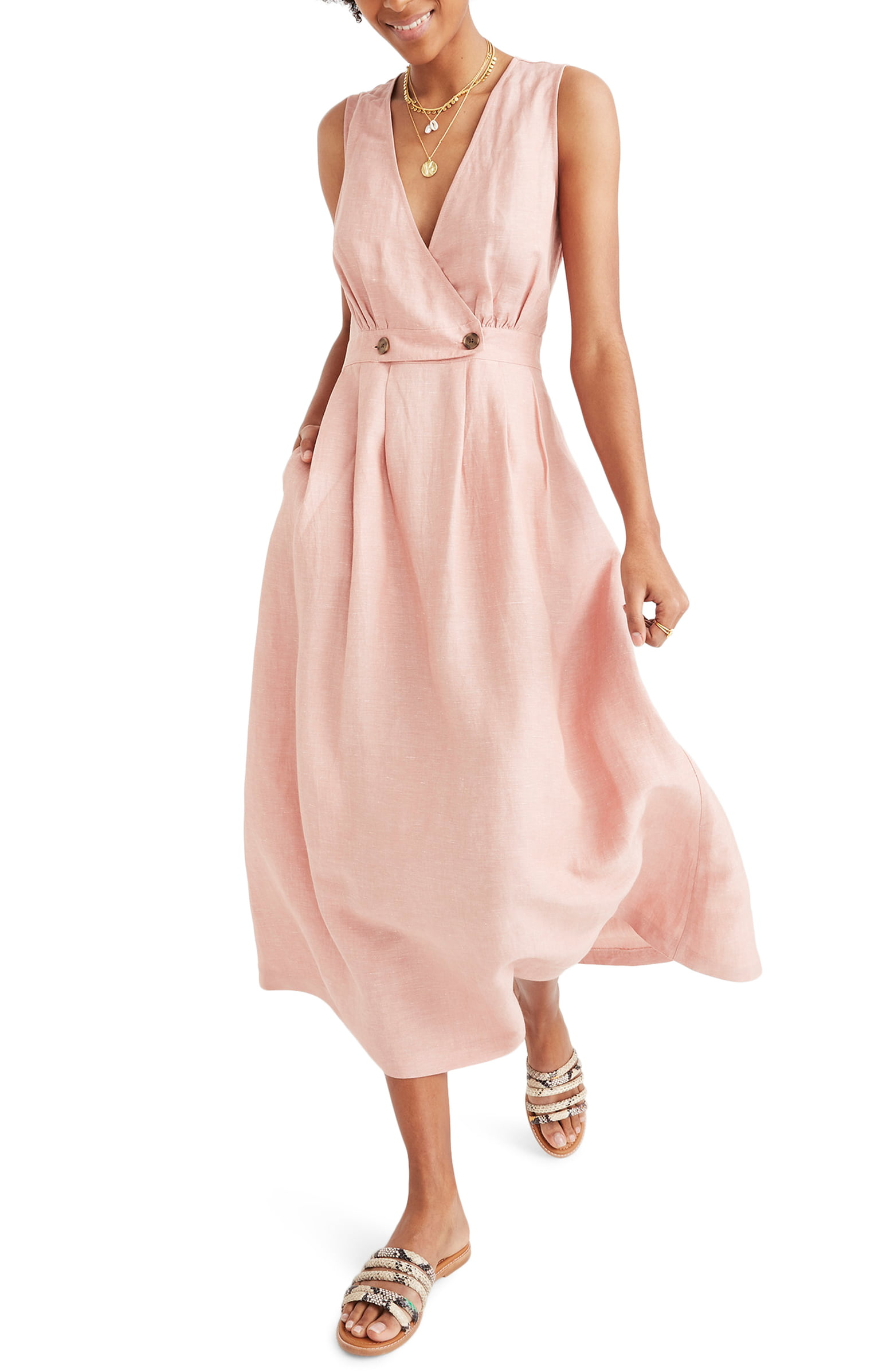 madewell button dress - shop here