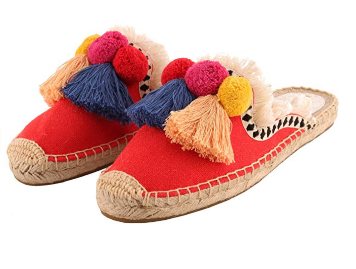 Pom Pom Shoes - These shoes were made for shuffling around little beach towns.