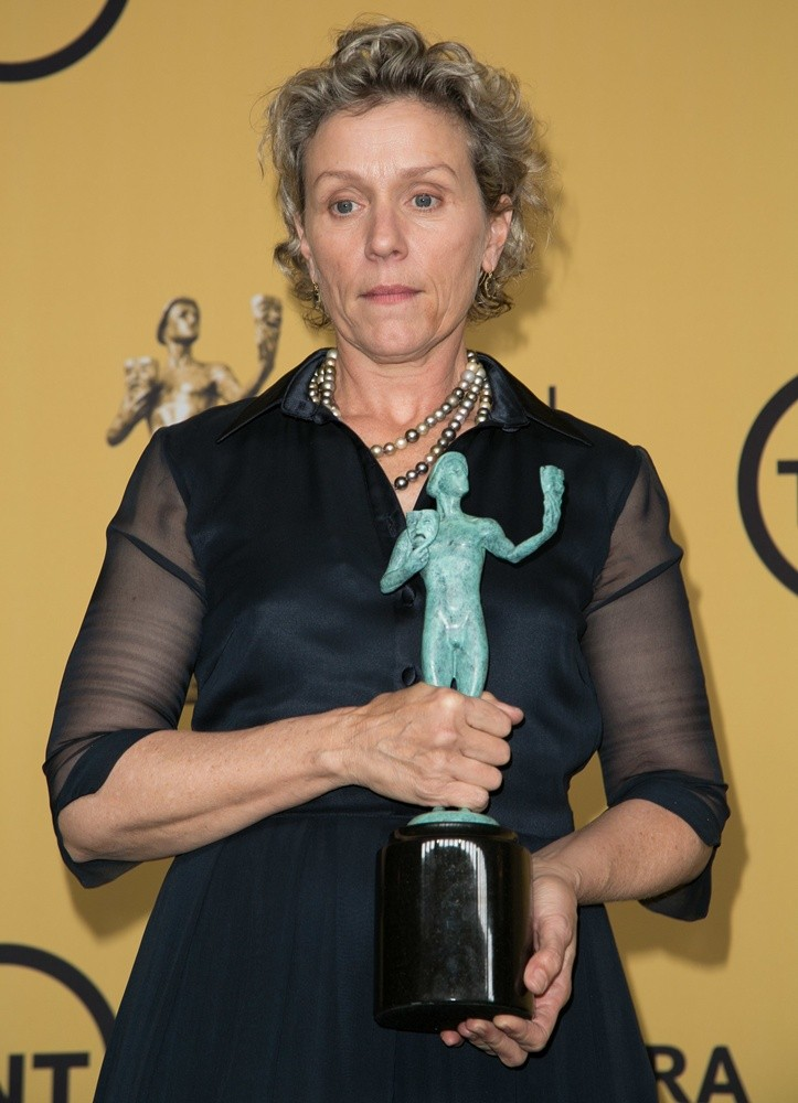 21st Annual Screen Actors Guild Awards at The Shrine Auditorium - Press Room  Featuring: Frances McDormand Where: Los Angeles, California, United States When: 25 Jan 2015 Credit: Brian To/WENN.com