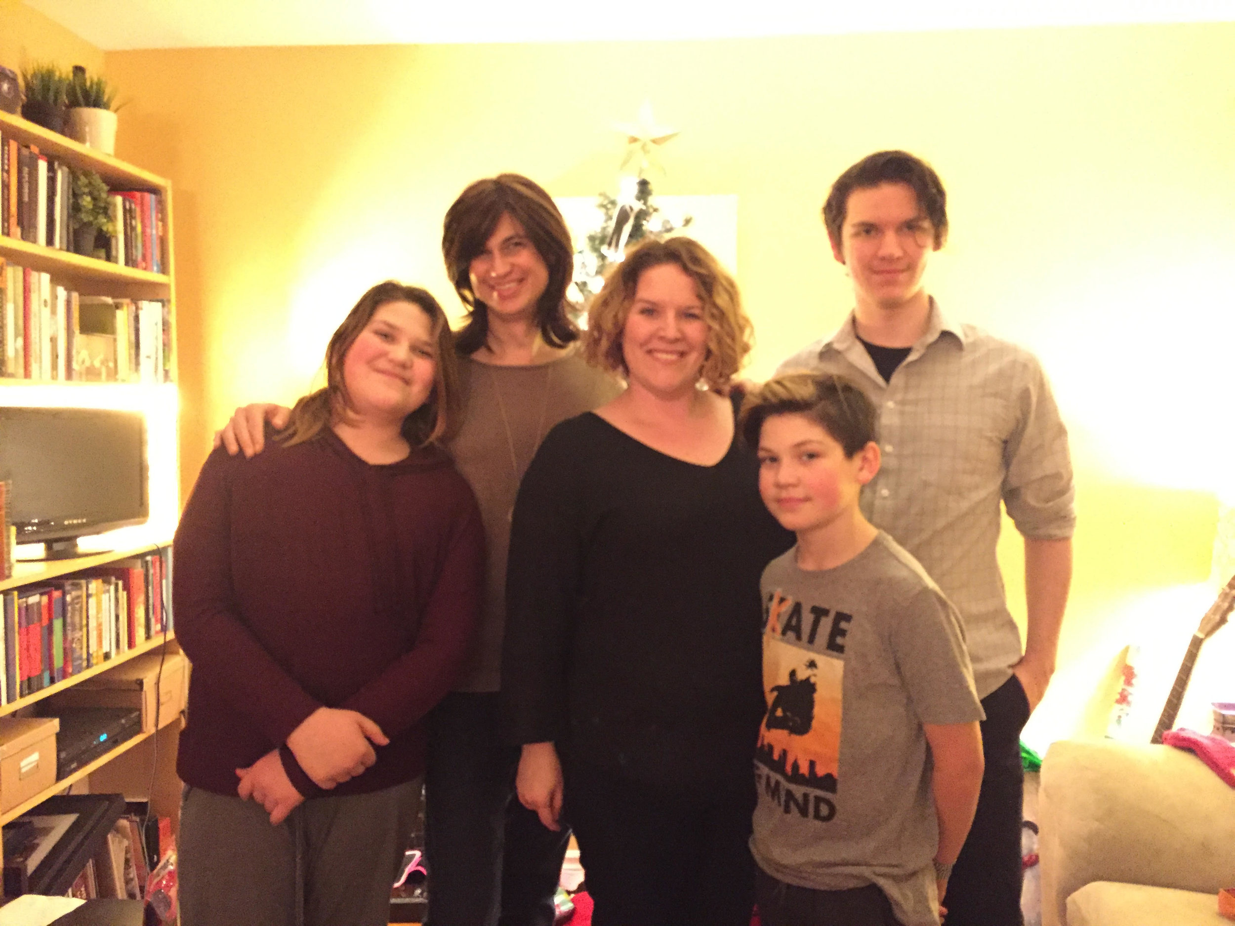 The fam celebrating a very gay Christmas
